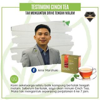 Testimoni Cinch® Tea Mix shaklee tak mengantuk drive jauh