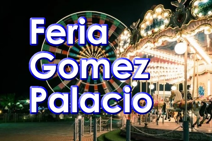 Texto de Feria Nacional Gomez Palacio en Azul