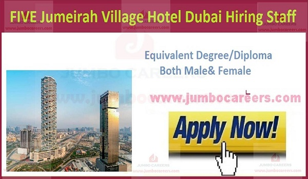 UAE latest hotel jobs with salary,