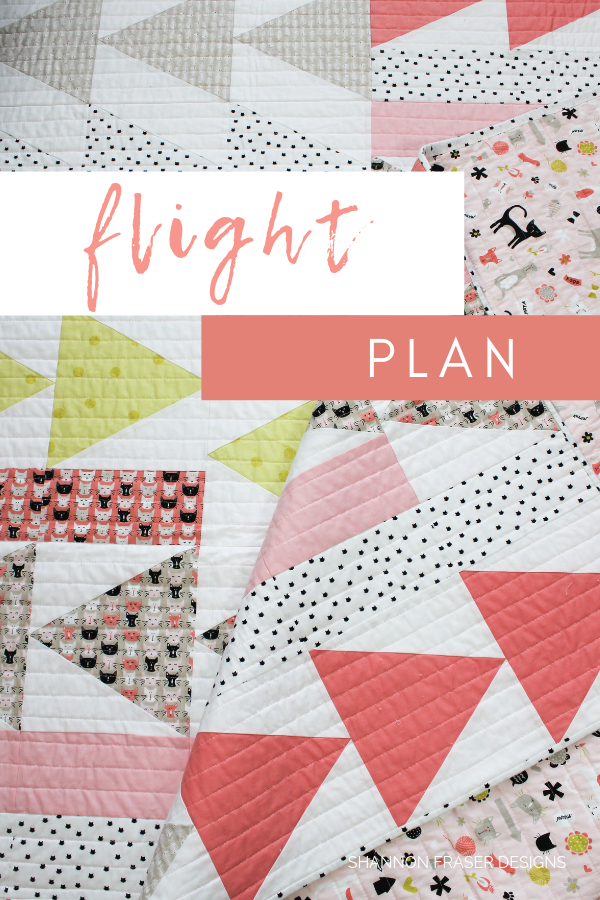 Flight Plan quilt | Modern quilt by Shannon Fraser Designs