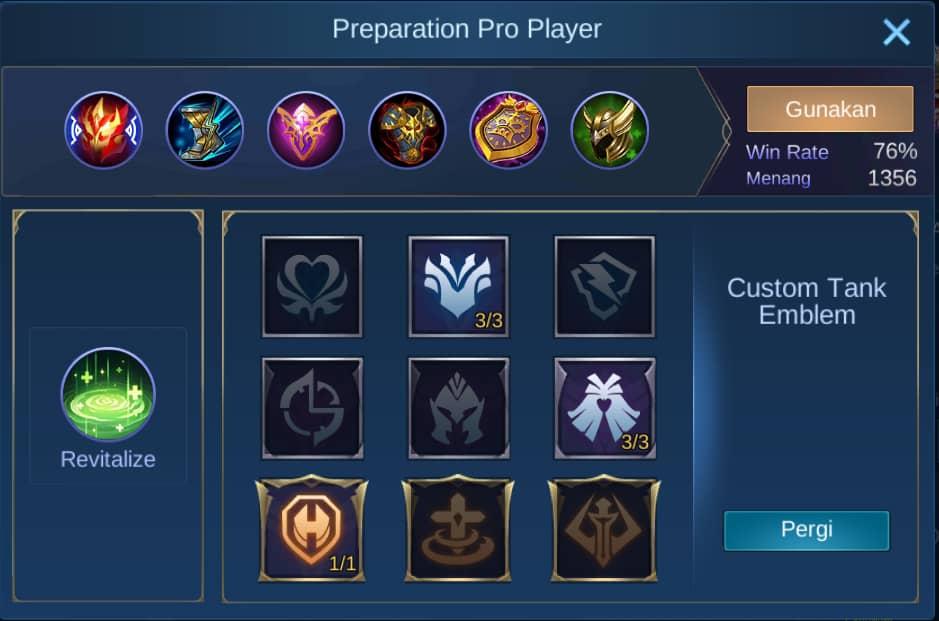 build item minotaur mobile legends (ML)