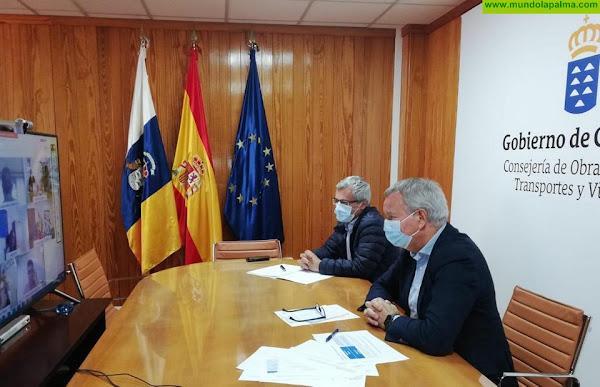 El consejero Sebastián Franquis coordina con los cabildos las líneas generales de los proyectos de transporte que Canarias va a presentar para optar a los fondos de la UE