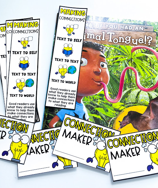 Making connections anchor chart, activities, graphic organizers, and more!