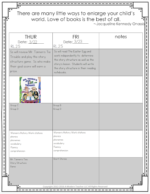 Click here to learn all about teaching ELA in the second  grade classroom.  These free and fun lesson outlines will detail curriculum and ideas for all informational, literature and writing standards in my 2nd grade elementary classroom.  This week's lessons will be all about story structure and Mr. Tannen's Tie Trouble.  Your second grade students will love the lessons and activities shared here.  These lesson outlines are added and updated almost each week.