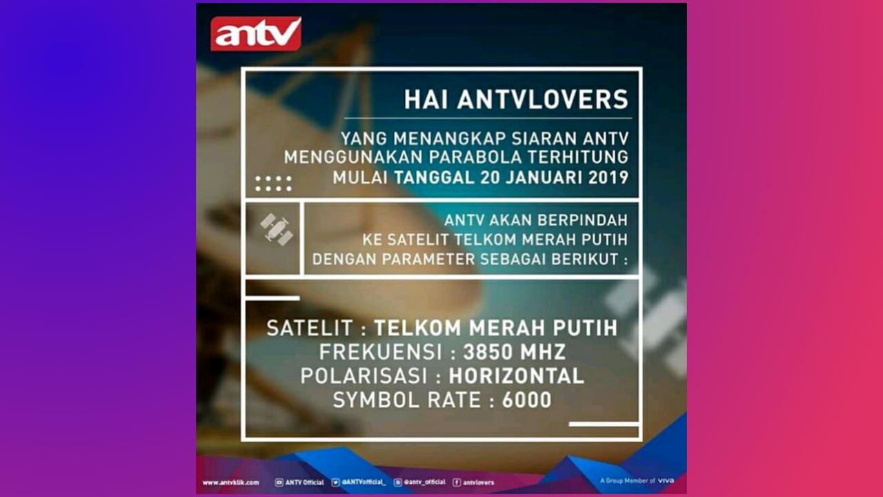 ANTV Pindah ke Telkom 4 (Merah Putih)