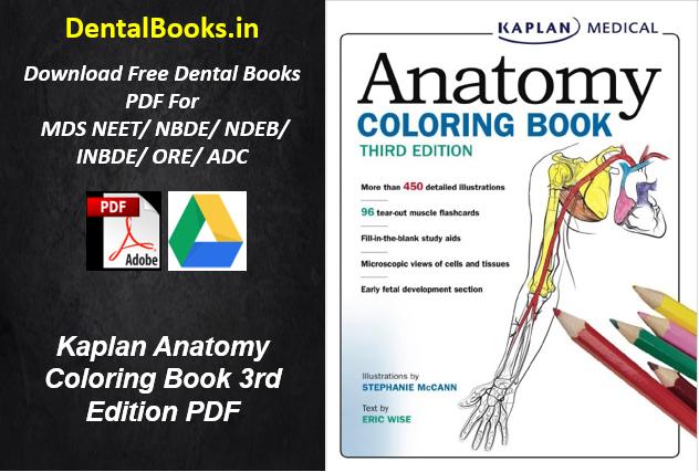 Kaplan Anatomy Coloring Book 3rd Edition PDF - Dental Books- Download  Latest Dental Study Material PDF