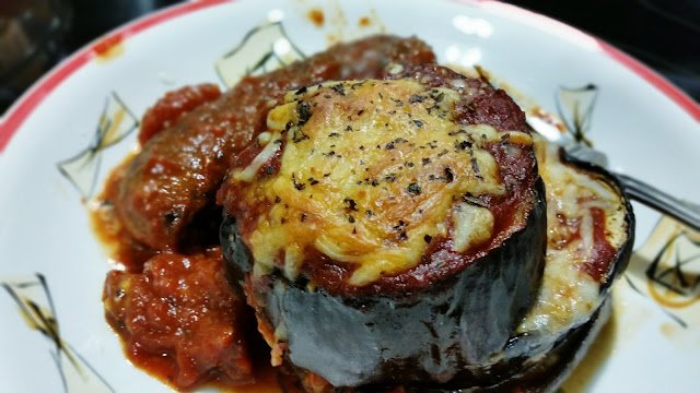 Baked Eggplant Parmesan Dinner