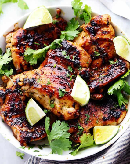 GRILLED HONEY LIME CILANTRO CHICKEN #dinner #healthyfood #vegan #easy #spagheti