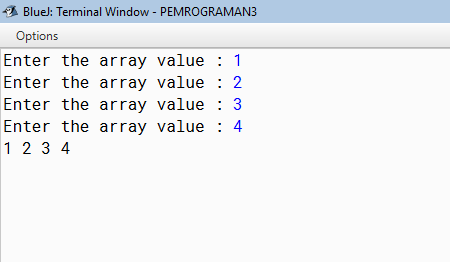 Example 1-dimensional array java program: