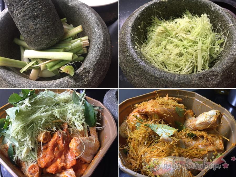 Resepi Ayam Goreng Berempah Guna Serai Mudah dan Sedap!