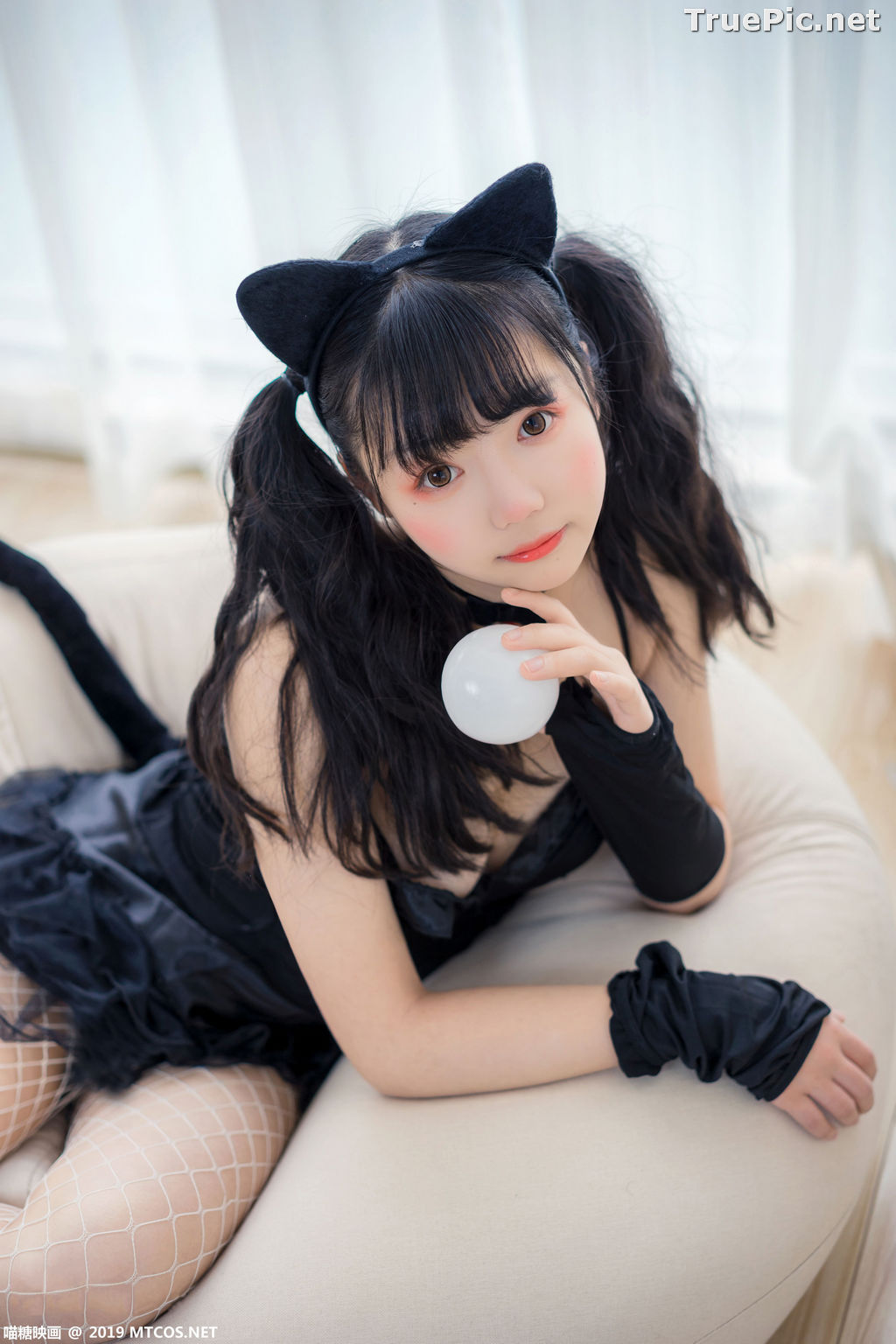 Image [MTCos] 喵糖映画 Vol.045 – Chinese Cute Model – Black Cat Girl - TruePic.net - Picture-7