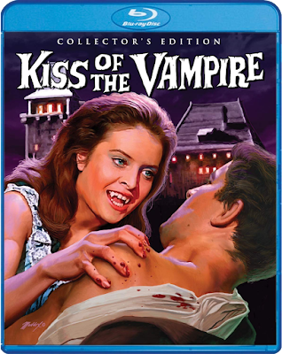 Mark Maddox's gorgeous cover art for Scream Factory's Collector's Edition of KISS OF THE VAMPIRE!