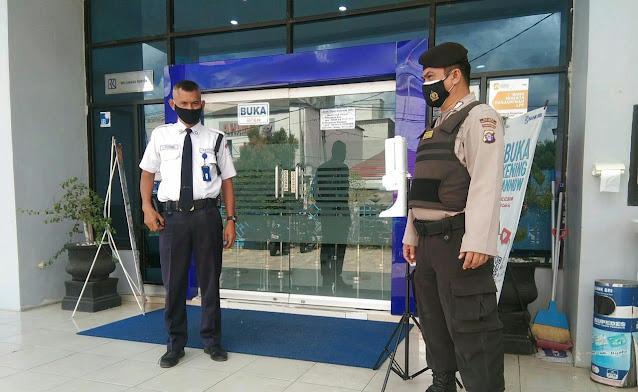 Tingkatkan Patroli, Personel Satsamapta Polres Barsel Sasar Objek Vital Bank