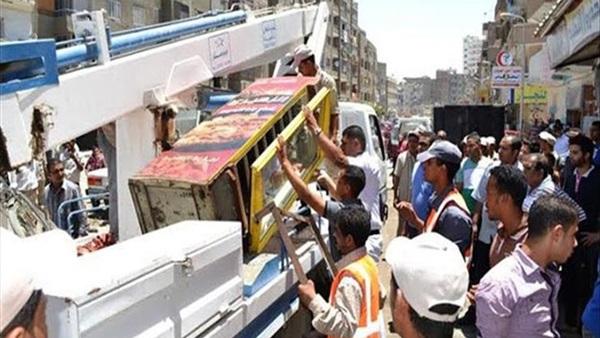 رفع 653 حالة إشغال ومصادرة وإعدام 118 شيشة في البحيرة