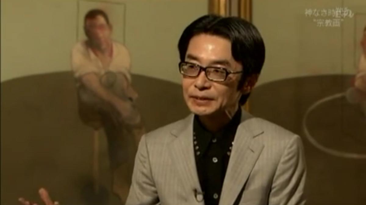 ベーコンの絵について力説する浅田彰