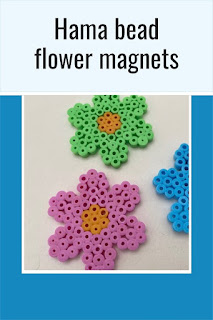 Hama bead flower magnets tutorial