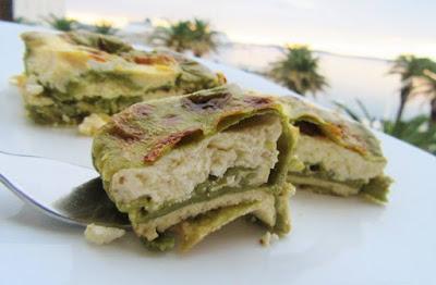 Zapečene zelene palačinke /  Baked green pancakes