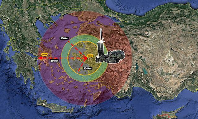 Σενάρια πολέμου - Οι τουρκικοί πύραυλοι μπορούν να πλήξουν μέχρι και την Αθήνα