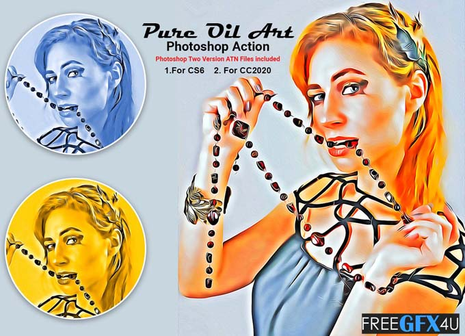 Pure Oil Art Photoshop Action
