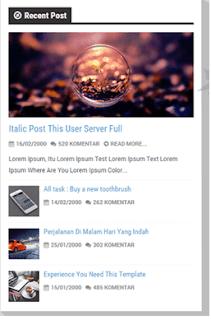 Recent Post Com thumbnail Imagem para Blogger