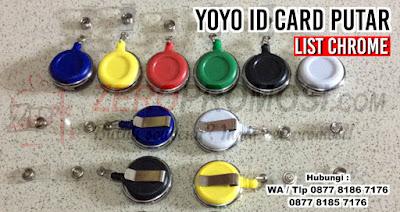 yoyo id card putar lis Baru, YOYO KAIT PUTAR, Badge Reels, Yoyo List, yoyo gantungan id card yang bisa diputar 360 derajat, Yoyo id card list dengan logo resin