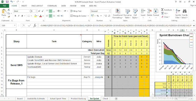 Scrum Template Excel