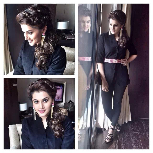 Taapsee Pannu Crown braid