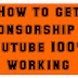 How to get sponsorship on youtube channel 100% Working