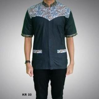 model baju batik koko laki laki