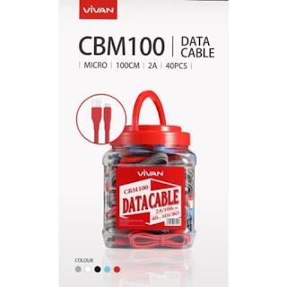 1 TOPLES KABEL VIVAN CBM100 100CM / CABEL CBM-100 1 M MICRO ANDROID