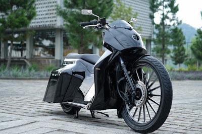 Modifikasi Honda PCX Bagger oleh Law A San
