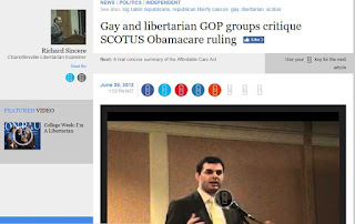 Gay libertarian Supreme Court health care Justin Amash RLC Obamacare