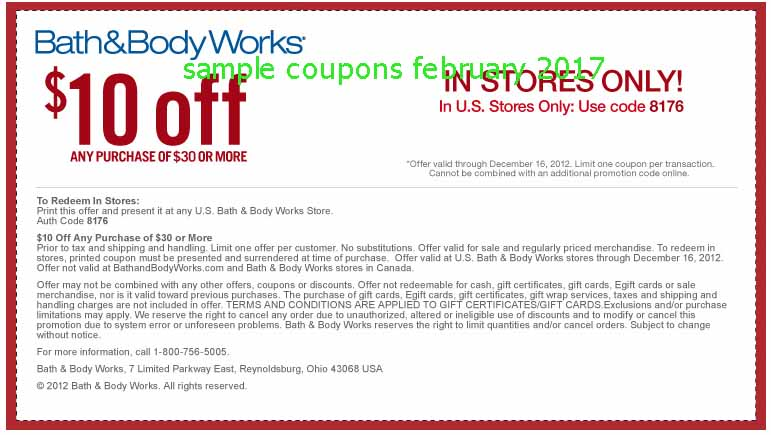 Body shop coupon february 2018