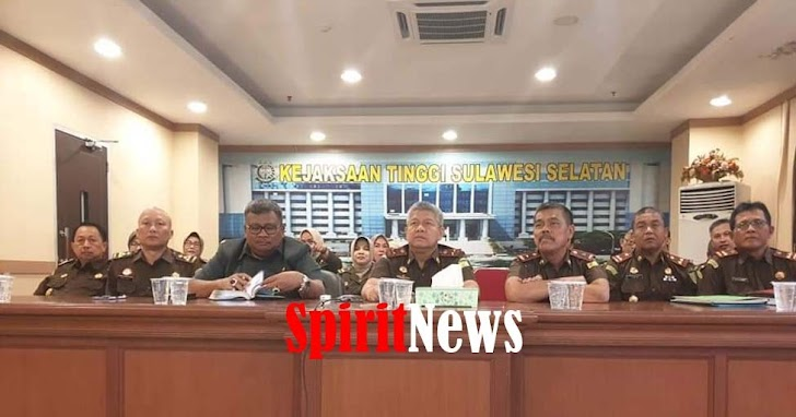 Kejati Sulsel, Video Conference Puspenkum Menyapa Bersama Wakil Jaksa Agung
