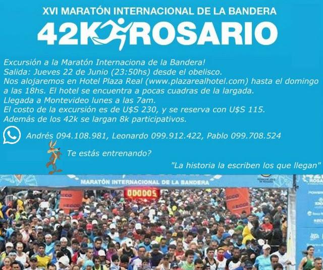 Viaje Coyotes a Maratón de la bandera 42k en Rosario (Santa Fe - ARG, 22a25/jun/2017)
