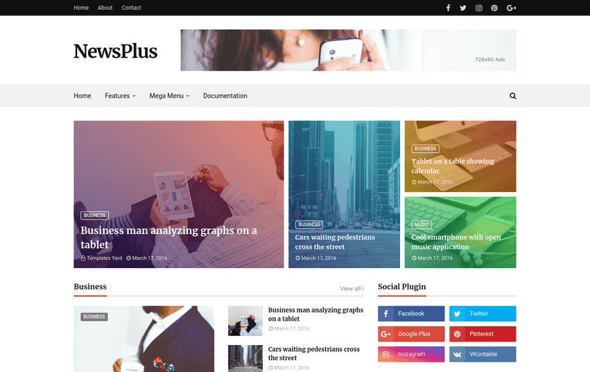 Newsplus Magazine Blogger Template