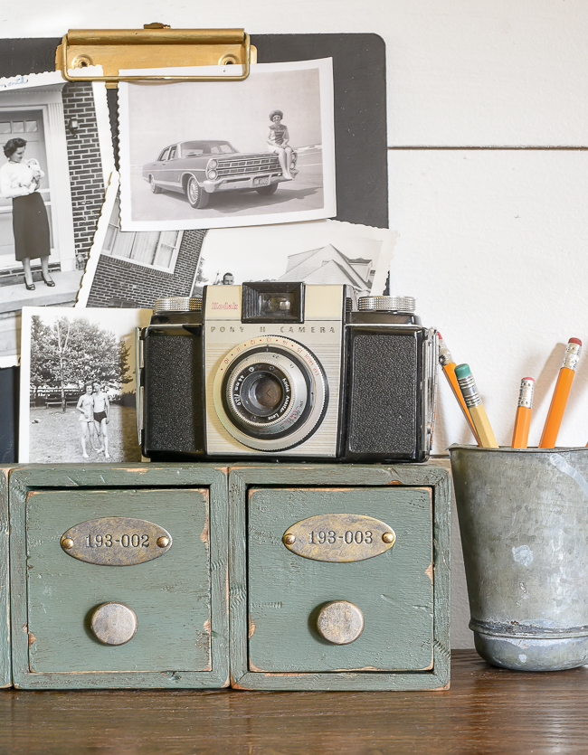 How to give new storage drawers a vintage industrial look