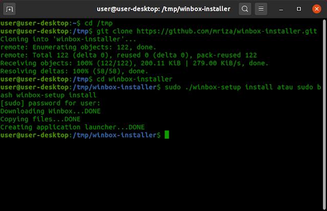 Install Winbox Linux