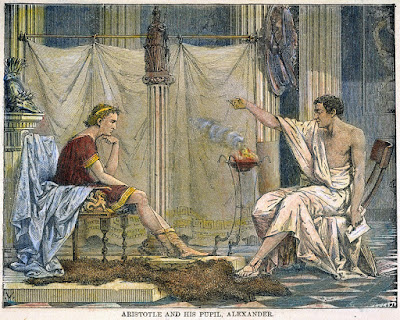 Aristotle teaching Alexander the Great, 1866 by Charles Laplante (1837–1903)