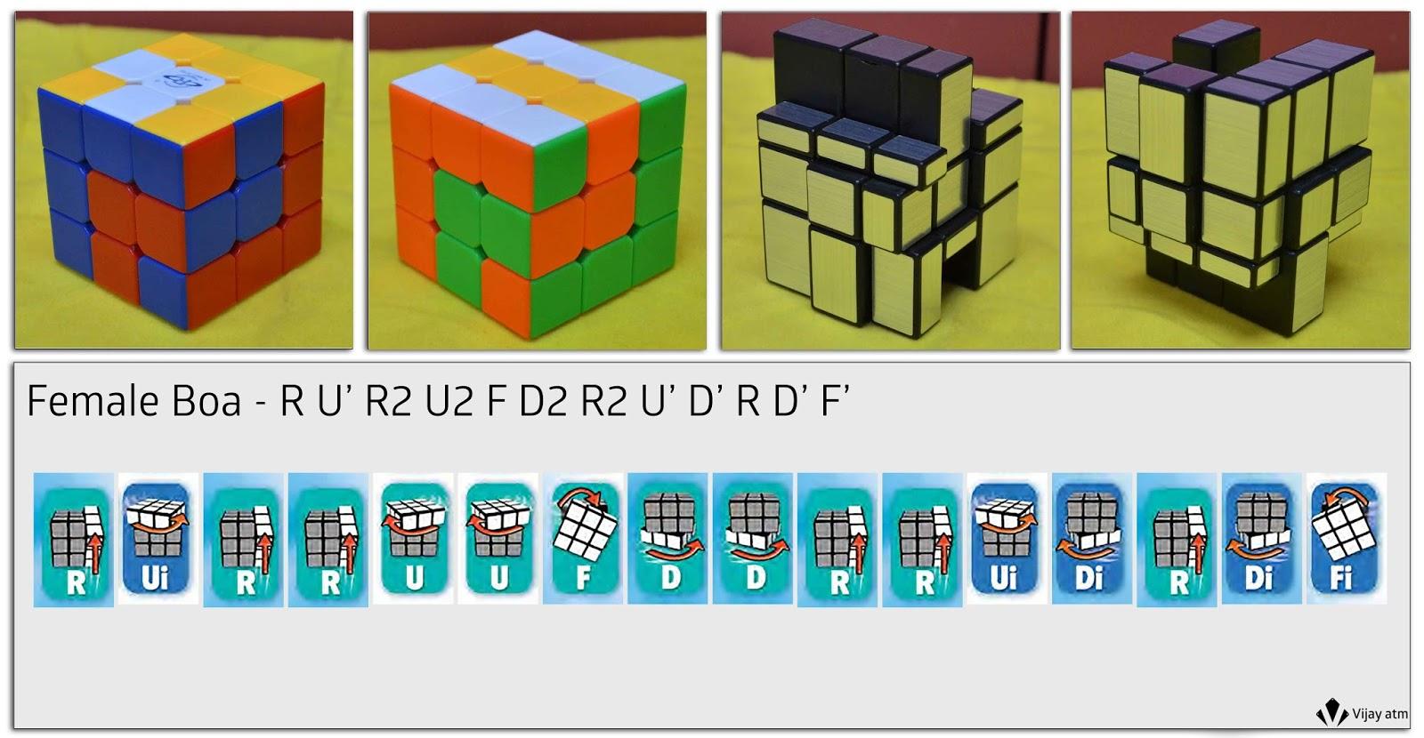 Зеркальный кубик рубика схема в картинках