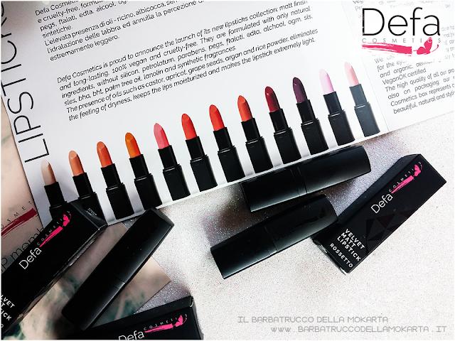 Defa cosmetics lipstick rossetti