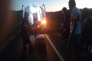 Homem sofre escoriações em acidente de moto na PB 151 na saída de Picuí