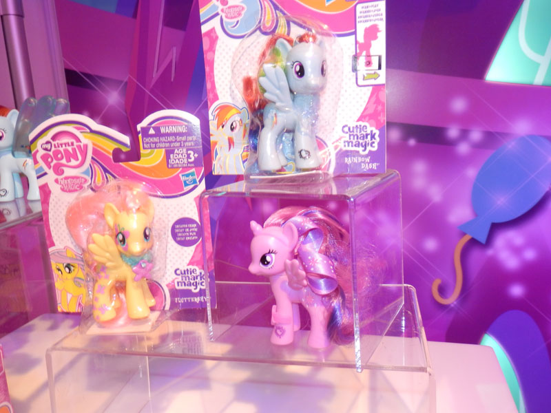 Fluttershy, Rainbow Dash and Twilight Sparkle Brushables at NY Toy Fair 2015