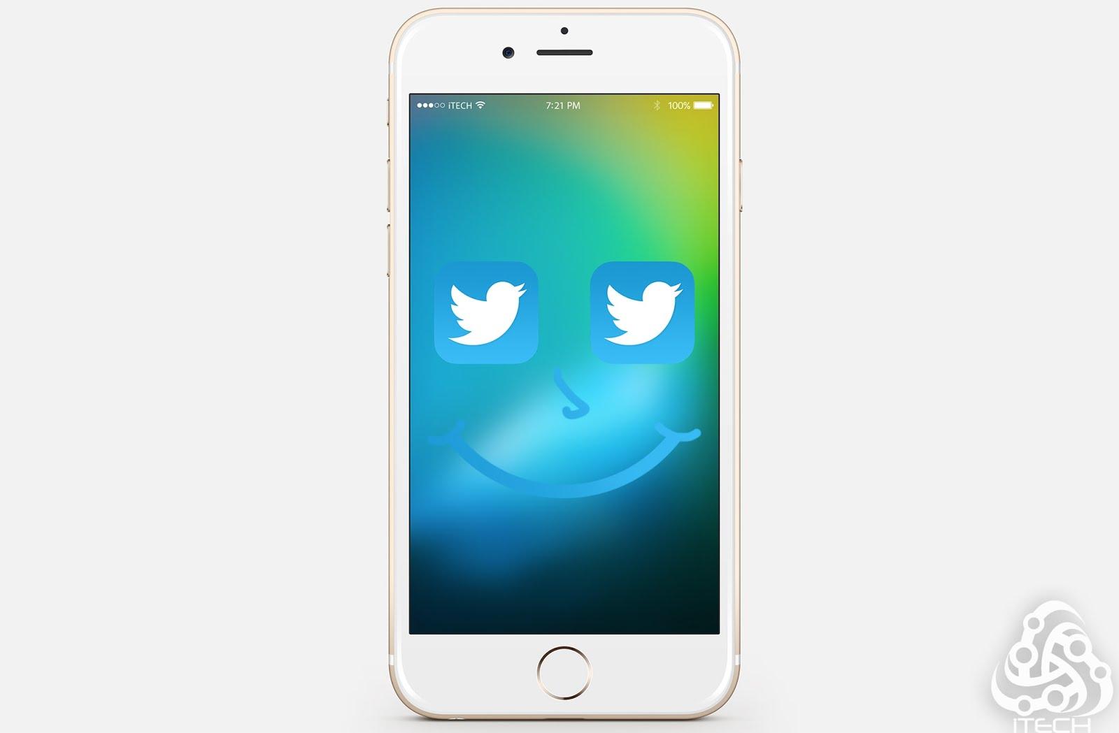 تسجيل حسابين في تطبيق تويتر الرسمي بدون جلبريك