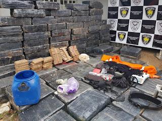 Polícia Civil faz maior apreensão de maconha da história do RN: 5 toneladas.