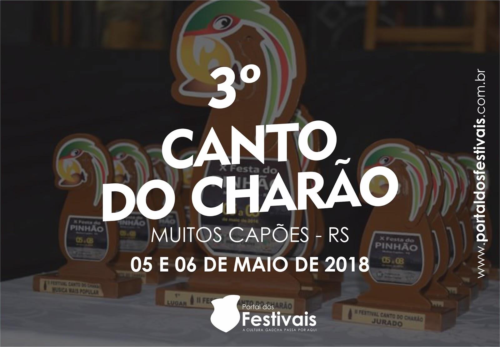 Inscrições para o 3º Canto do Charão iniciam dia 11 de janeiro