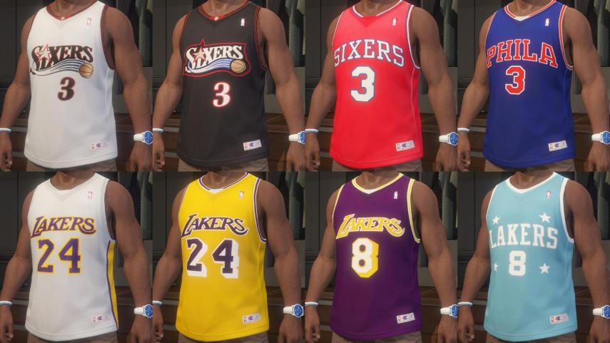 Allen Iverson / Kobe Bryant NBA Jersey Pack