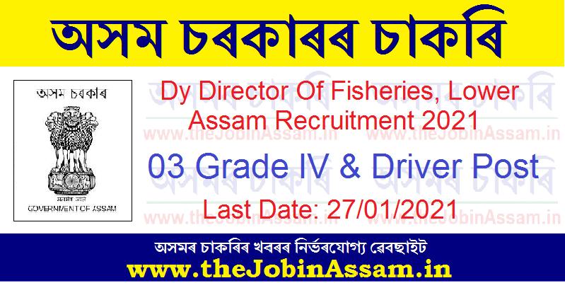 Deputy Director of Fisheries, Lower Assam Zone, Barpeta Recruitment