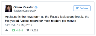 WASH POST Reporters Cheer Trump 'Russia-Leak' Story - Just Like They Did Obama '09 Visit