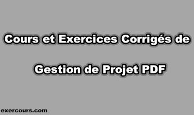 Cours et Exercices Corrigés de Gestion de Projet PDF